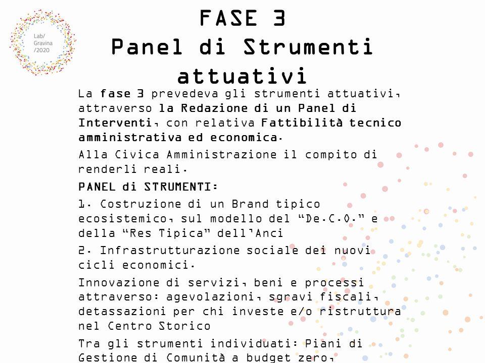 FASE 3 Panel di Strumenti attuativi