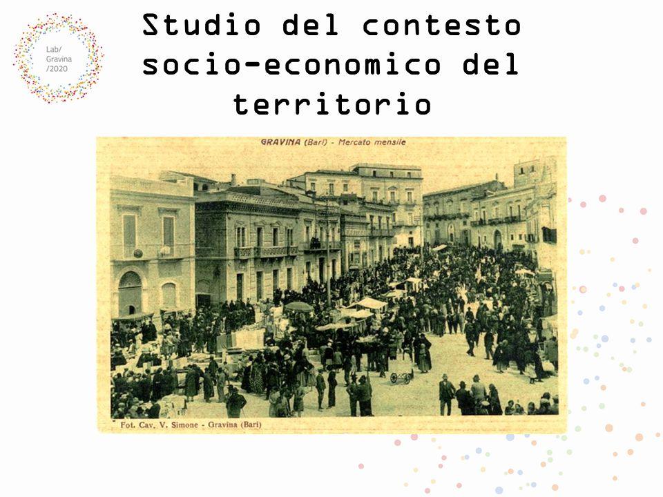 Studio del contesto socio-economico del territorio