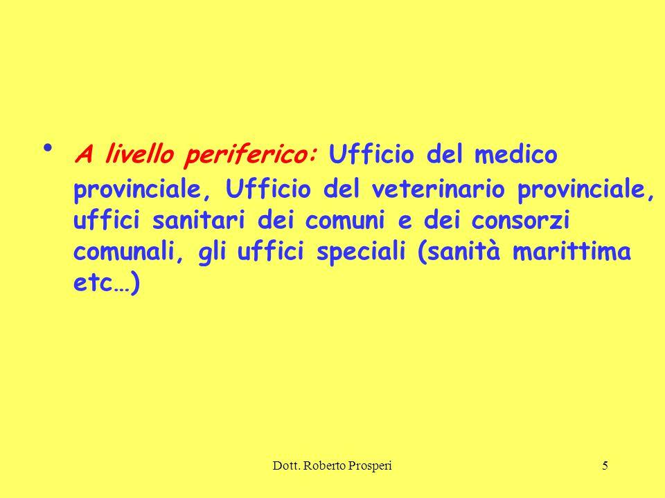 A livello periferico: Ufficio del medico
