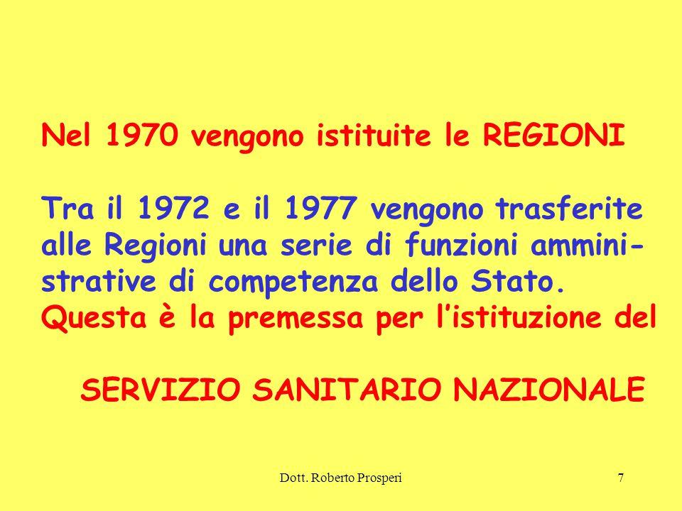 Nel 1970 vengono istituite le REGIONI