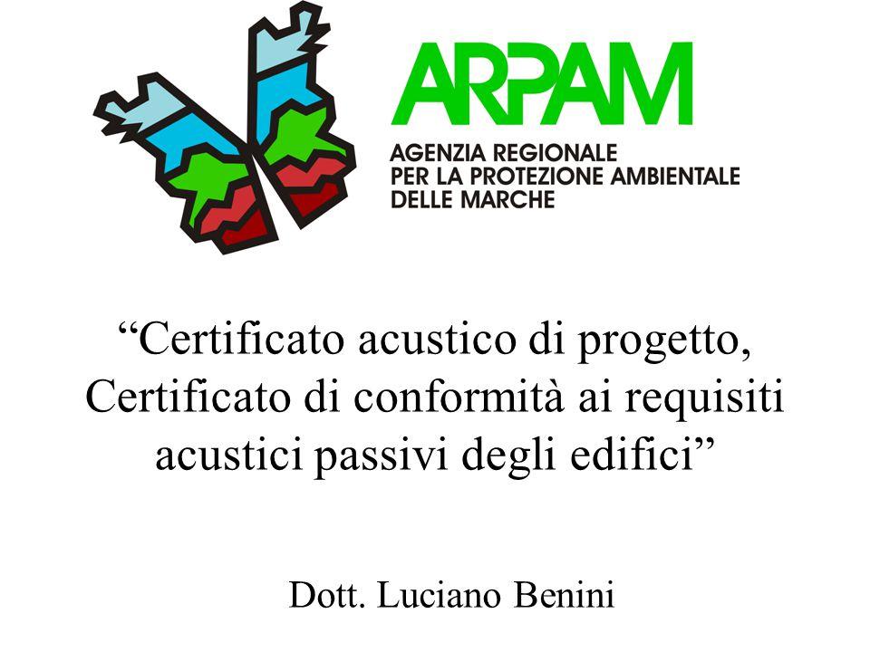 Certificato acustico di progetto, Certificato di conformità ai requisiti acustici passivi degli edifici