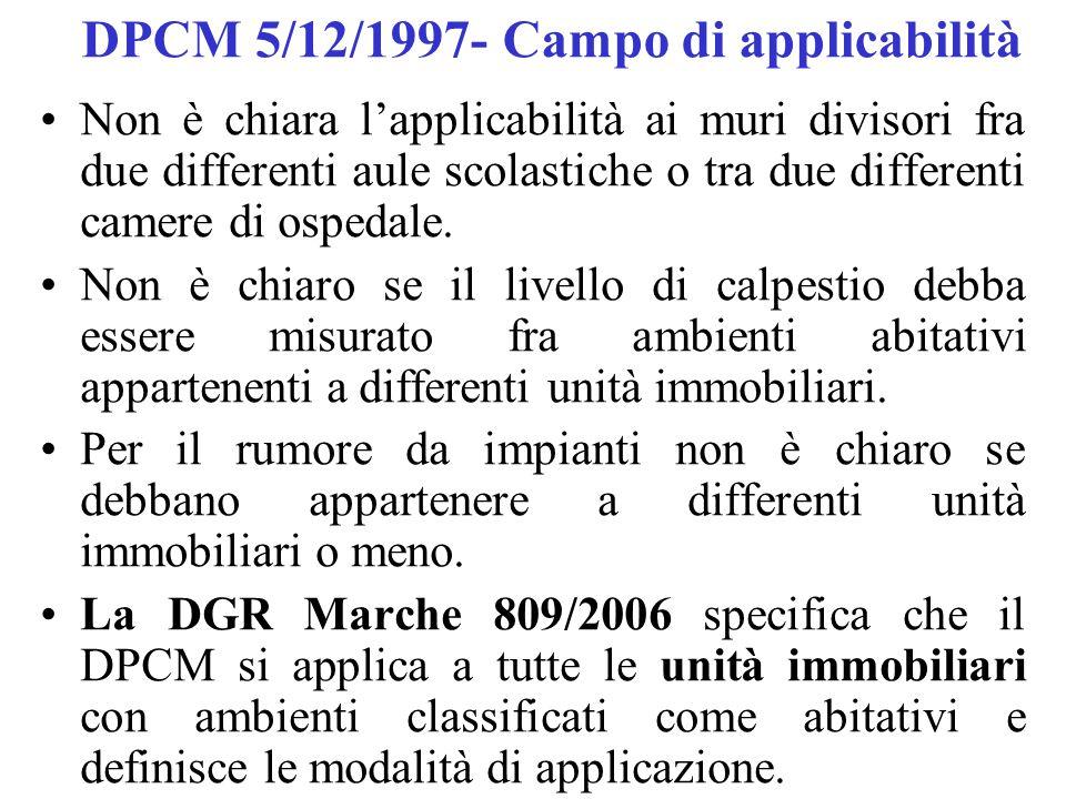 DPCM 5/12/1997- Campo di applicabilità