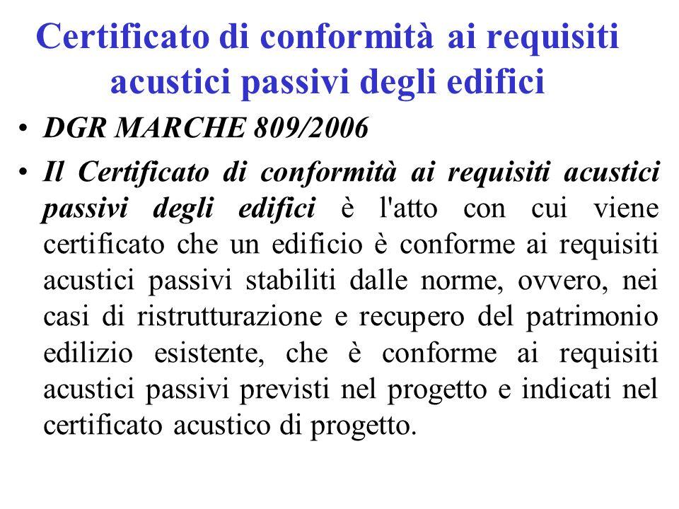 Certificato di conformità ai requisiti acustici passivi degli edifici