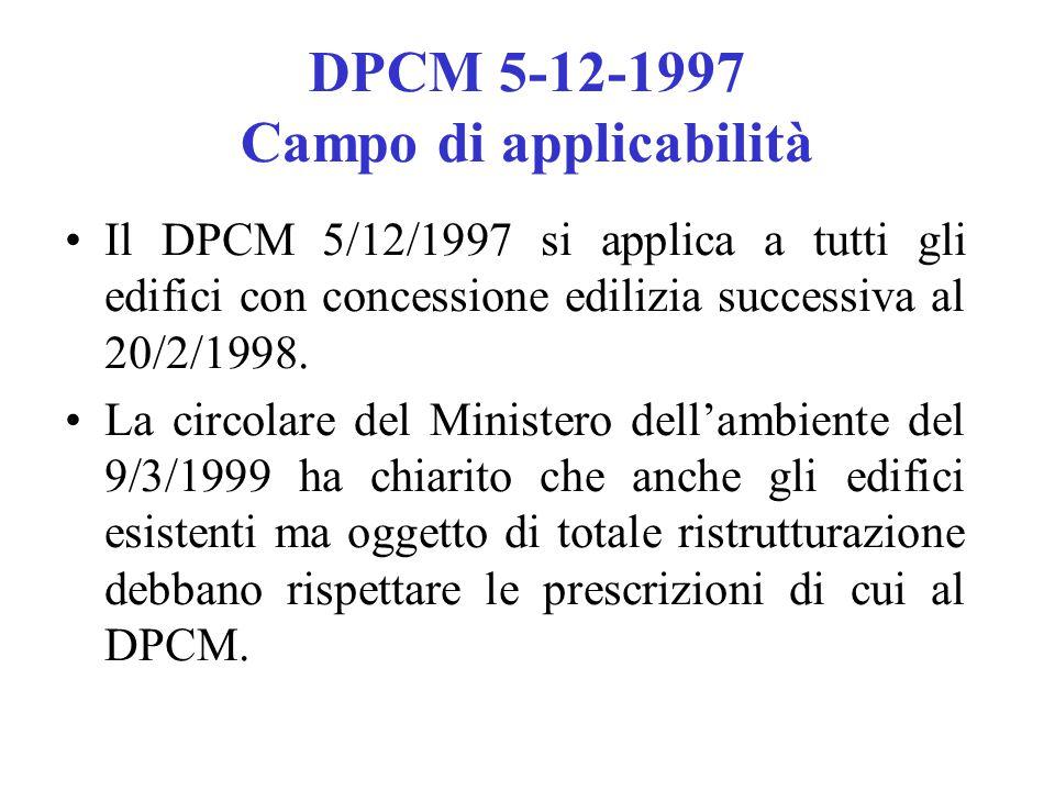 DPCM 5-12-1997 Campo di applicabilità