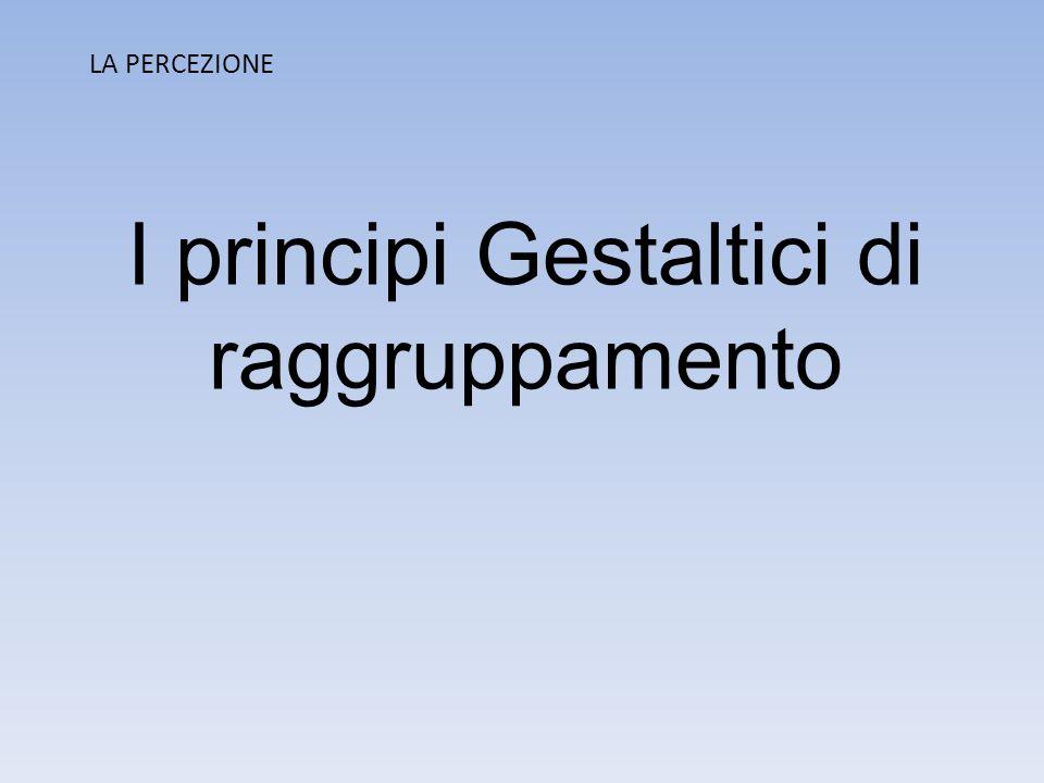 I principi Gestaltici di raggruppamento