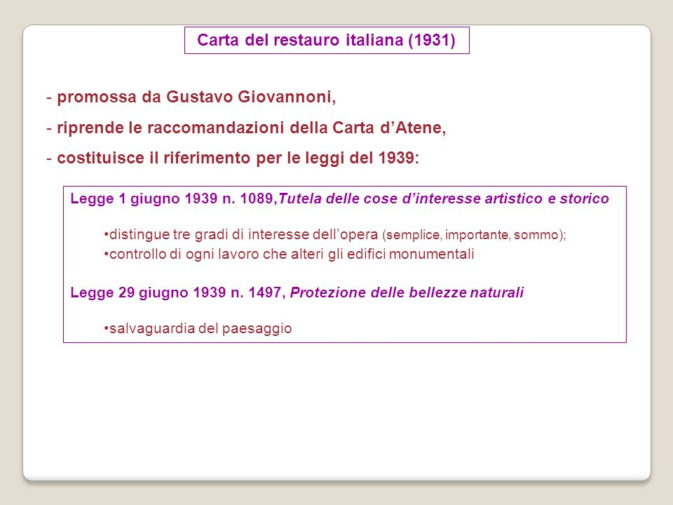 Carta del restauro italiana (1931)