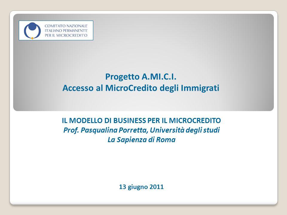 Progetto A.MI.C.I. Accesso al MicroCredito degli Immigrati