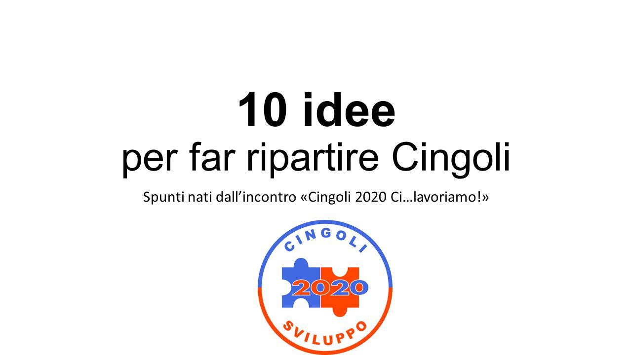 10 idee per far ripartire Cingoli