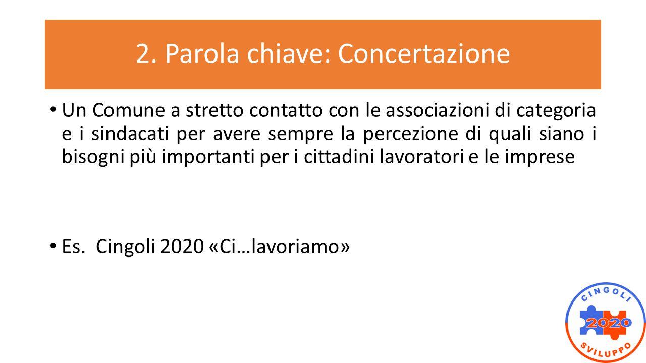 2. Parola chiave: Concertazione