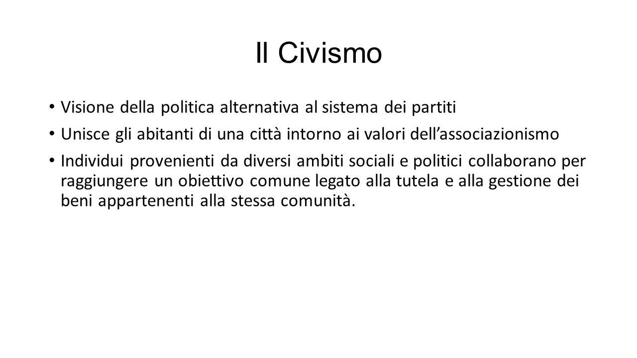 Il Civismo Visione della politica alternativa al sistema dei partiti