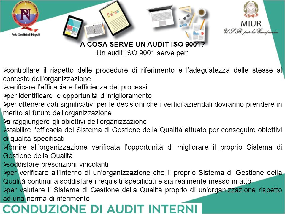 A COSA SERVE UN AUDIT ISO 9001