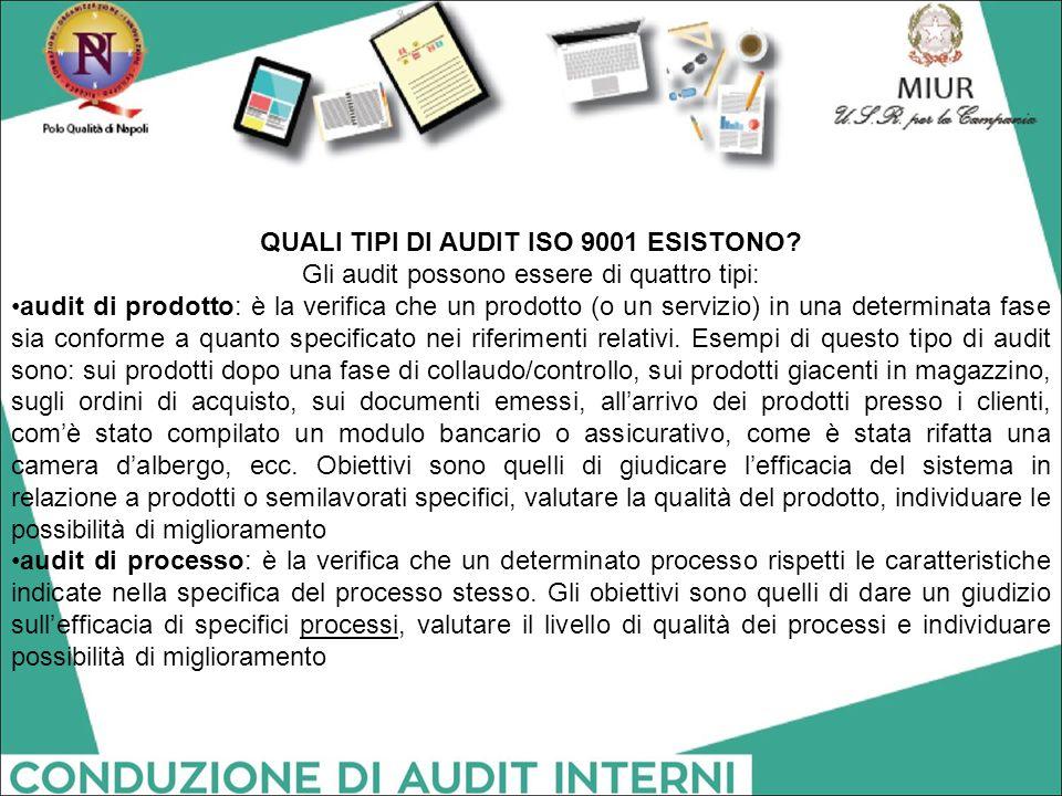 QUALI TIPI DI AUDIT ISO 9001 ESISTONO