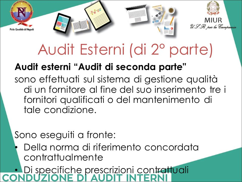 Audit Esterni (di 2° parte)