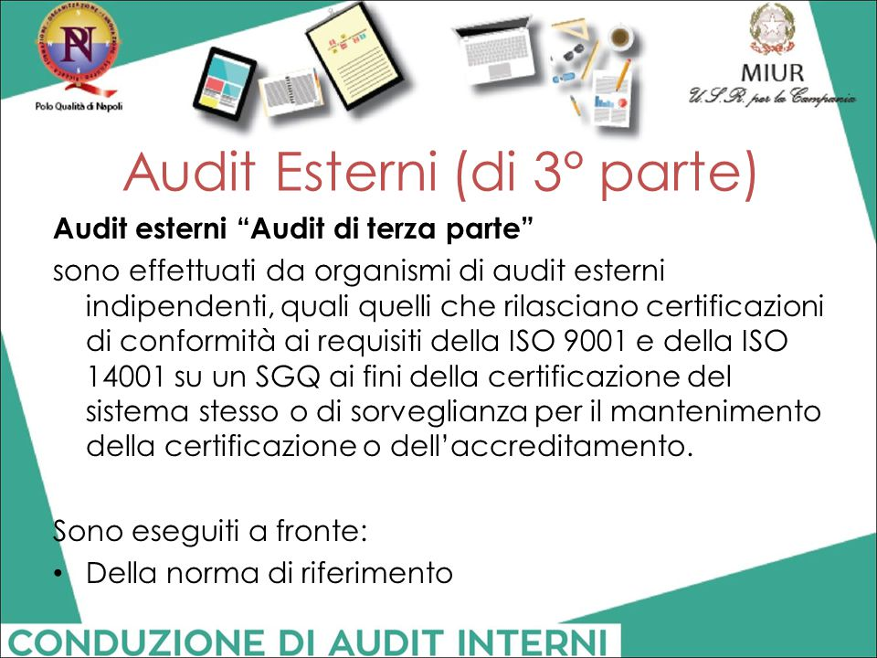 Audit Esterni (di 3° parte)