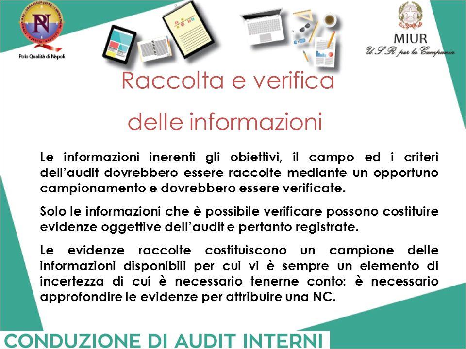 Raccolta e verifica delle informazioni
