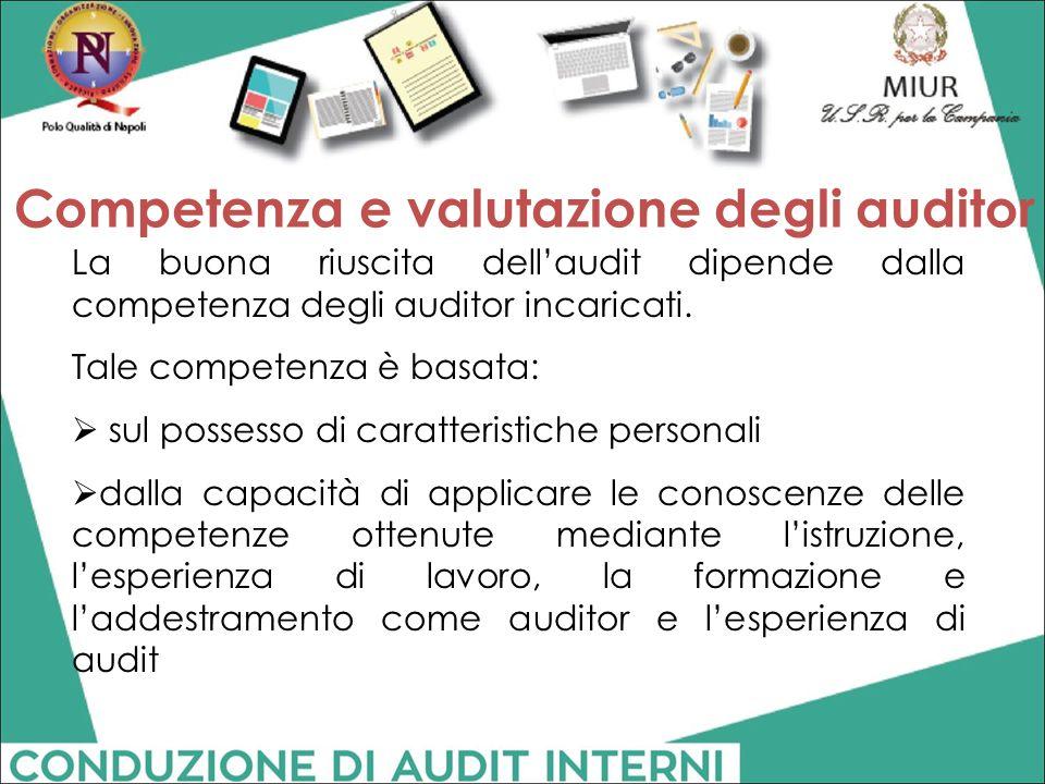 Competenza e valutazione degli auditor
