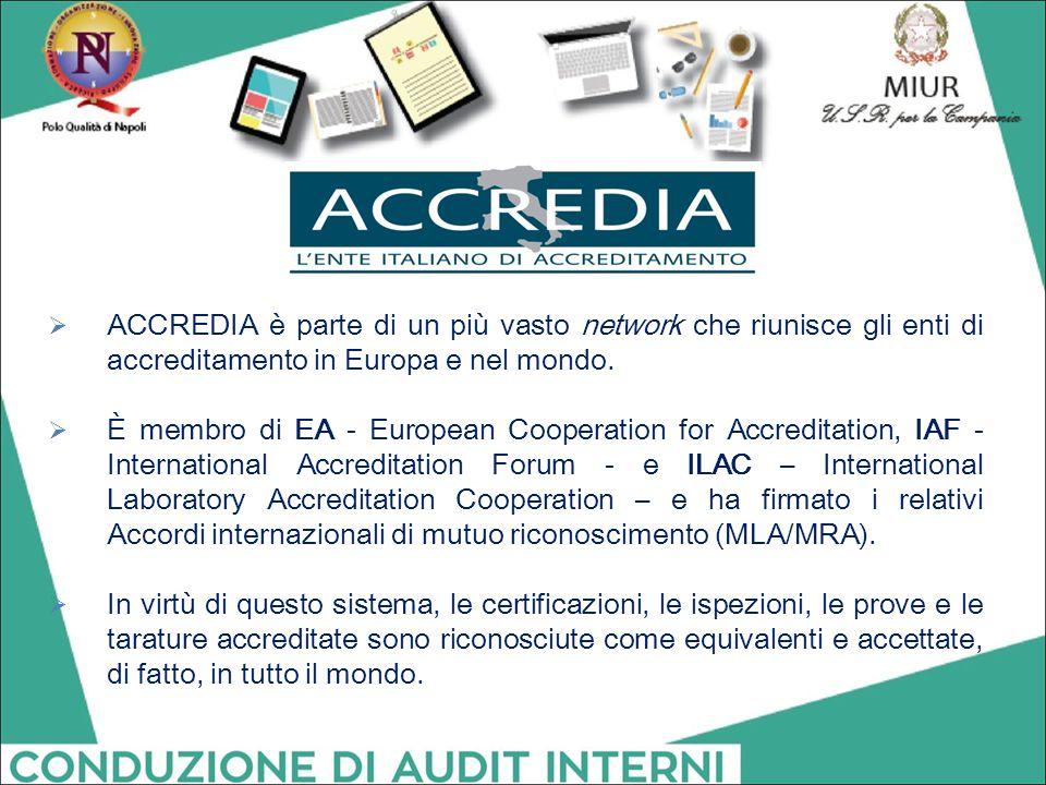 ACCREDIA è parte di un più vasto network che riunisce gli enti di accreditamento in Europa e nel mondo.