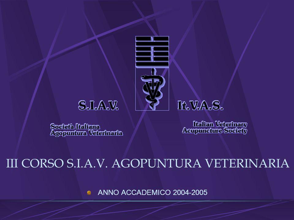 III CORSO S.I.A.V. AGOPUNTURA VETERINARIA