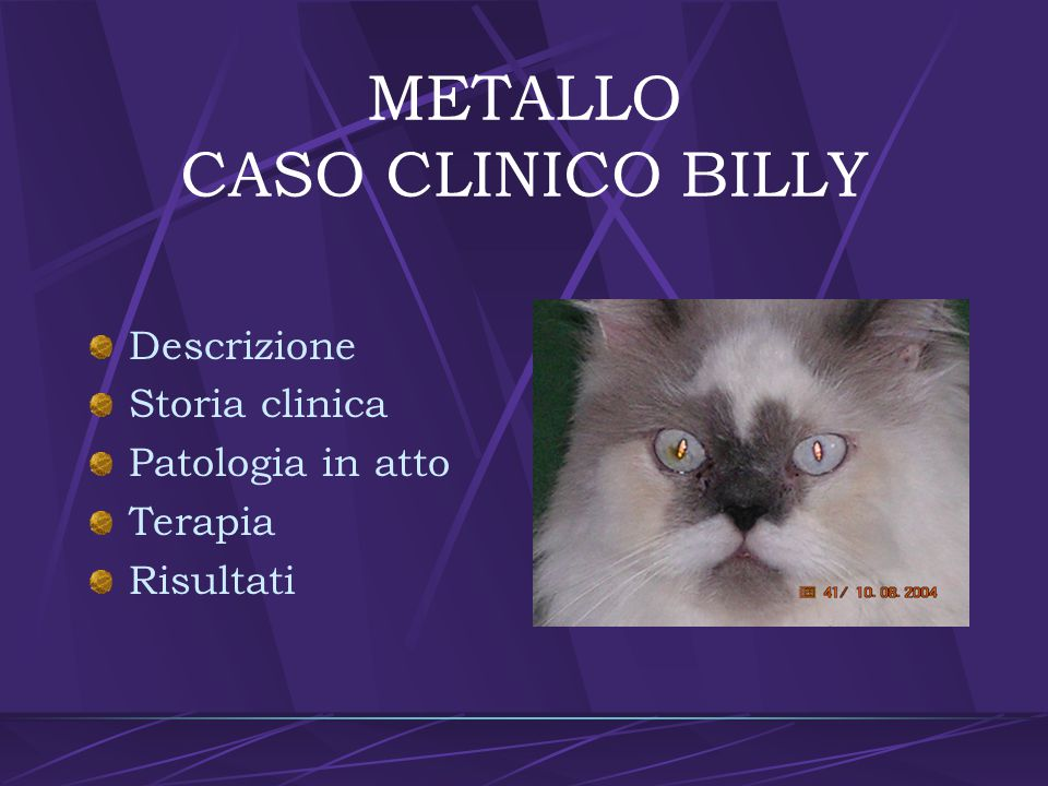 METALLO CASO CLINICO BILLY