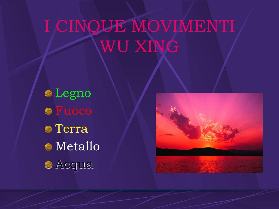 I CINQUE MOVIMENTI WU XING
