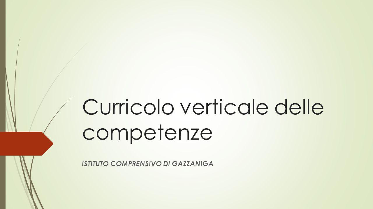 Curricolo verticale delle competenze