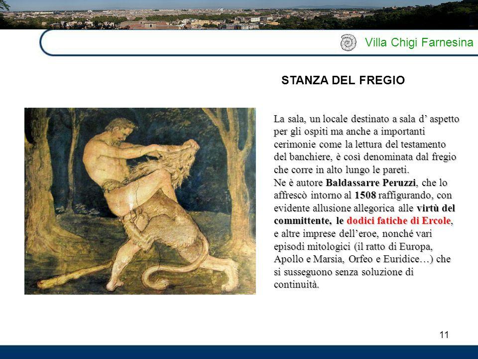 Villa Chigi Farnesina STANZA DEL FREGIO