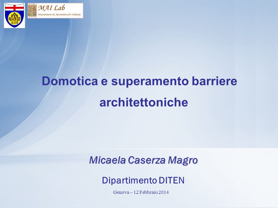 Domotica e superamento barriere architettoniche