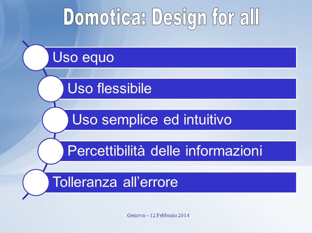 Domotica: Design for all