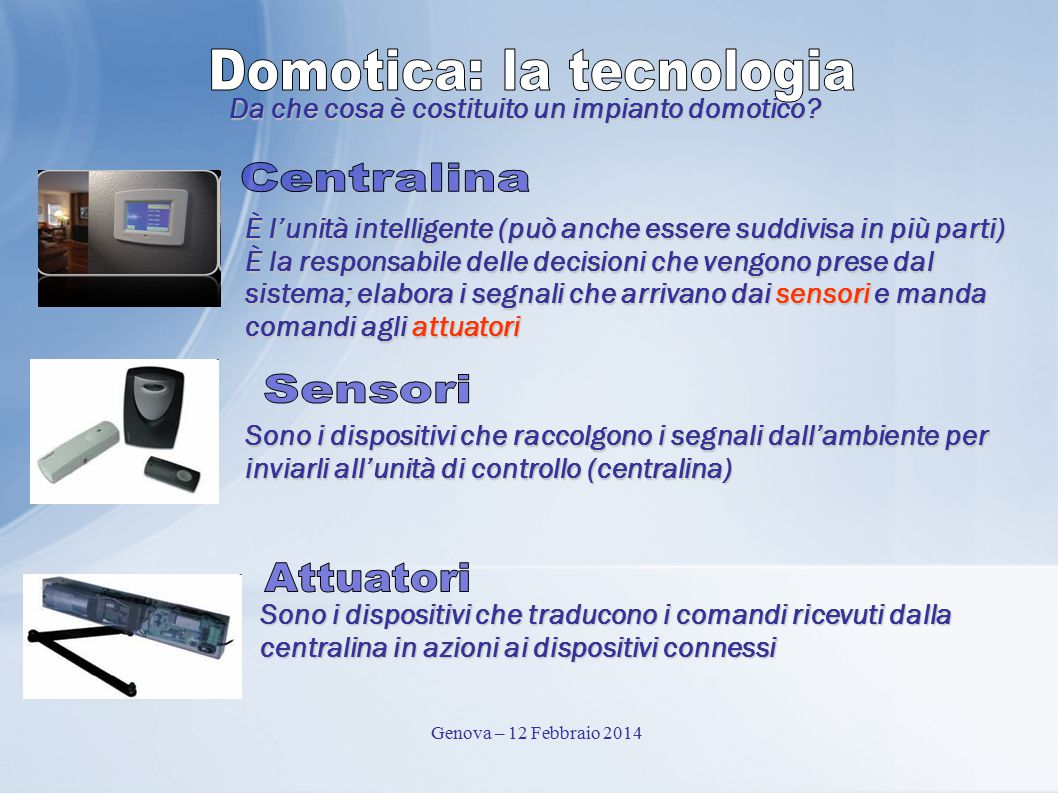 Domotica: la tecnologia