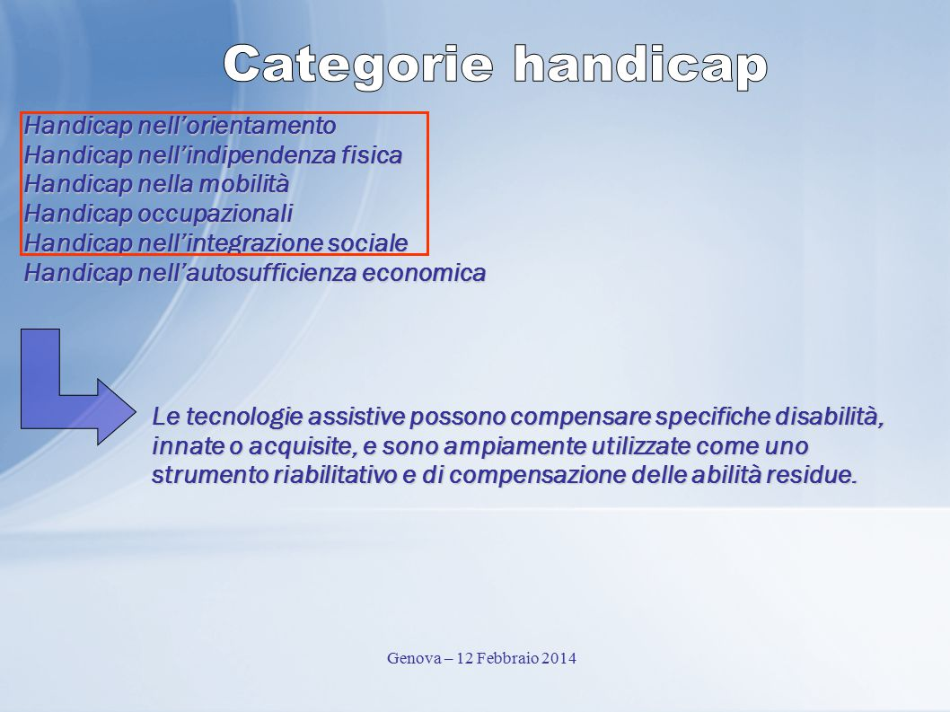 Categorie handicap Handicap nell'orientamento
