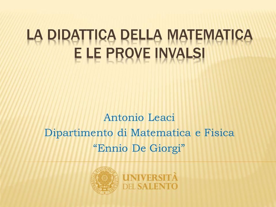 La didattica della matematica e le prove invalsi