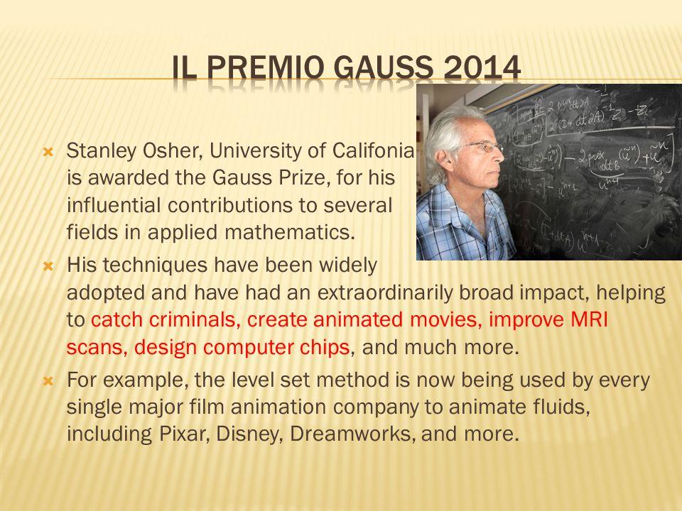 Il premio gauss 2014