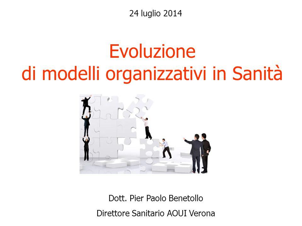 Evoluzione di modelli organizzativi in Sanità