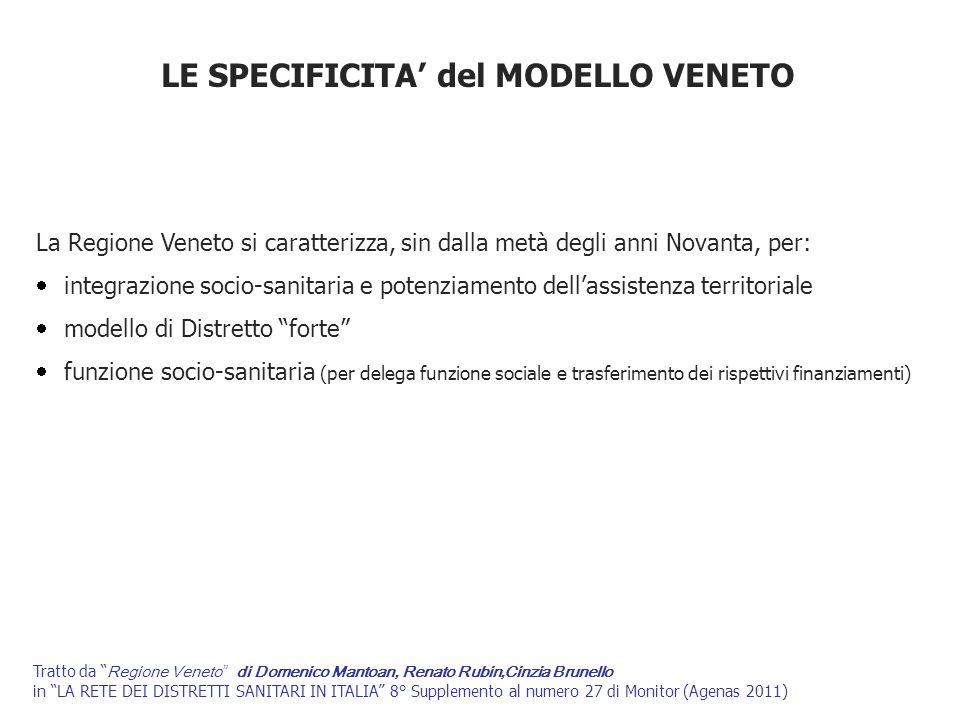 LE SPECIFICITA' del MODELLO VENETO
