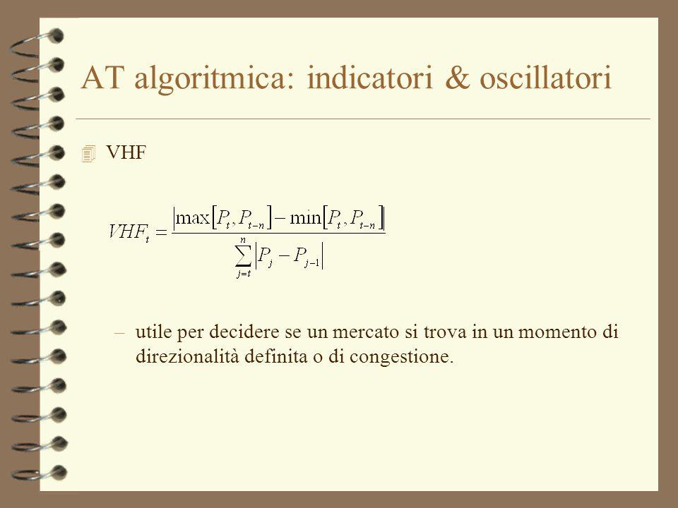 AT algoritmica: indicatori & oscillatori