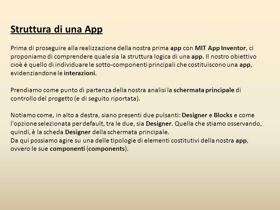 Struttura di una App