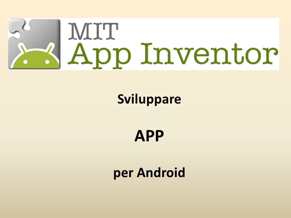 Sviluppare APP per Android