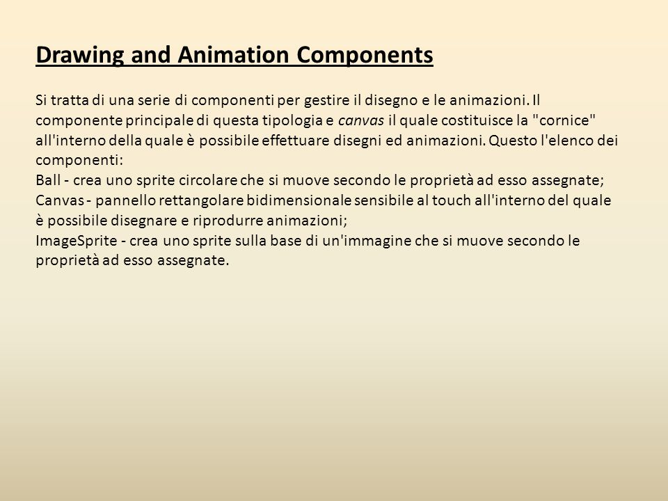 Drawing and Animation Components