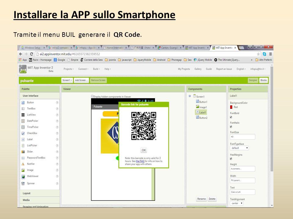 Installare la APP sullo Smartphone