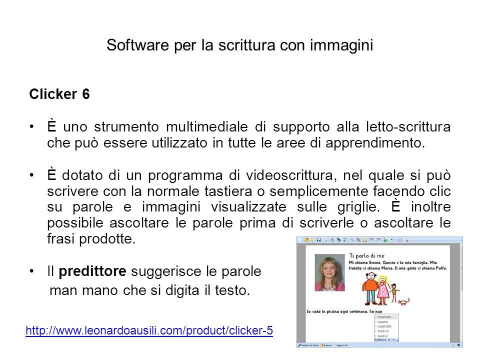 Software per la scrittura con immagini
