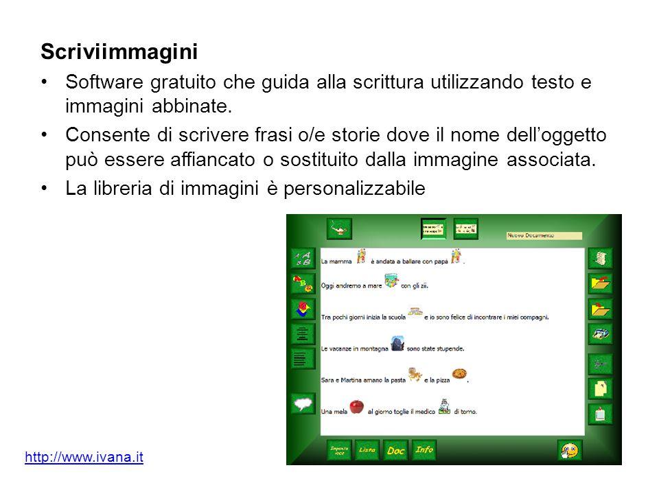 Scriviimmagini Software gratuito che guida alla scrittura utilizzando testo e immagini abbinate.
