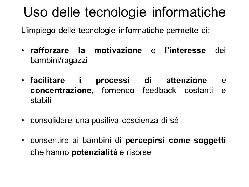 Uso delle tecnologie informatiche