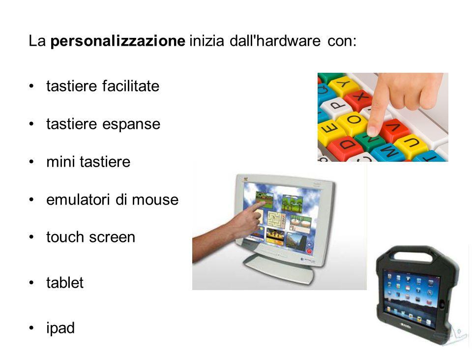 La personalizzazione inizia dall hardware con: