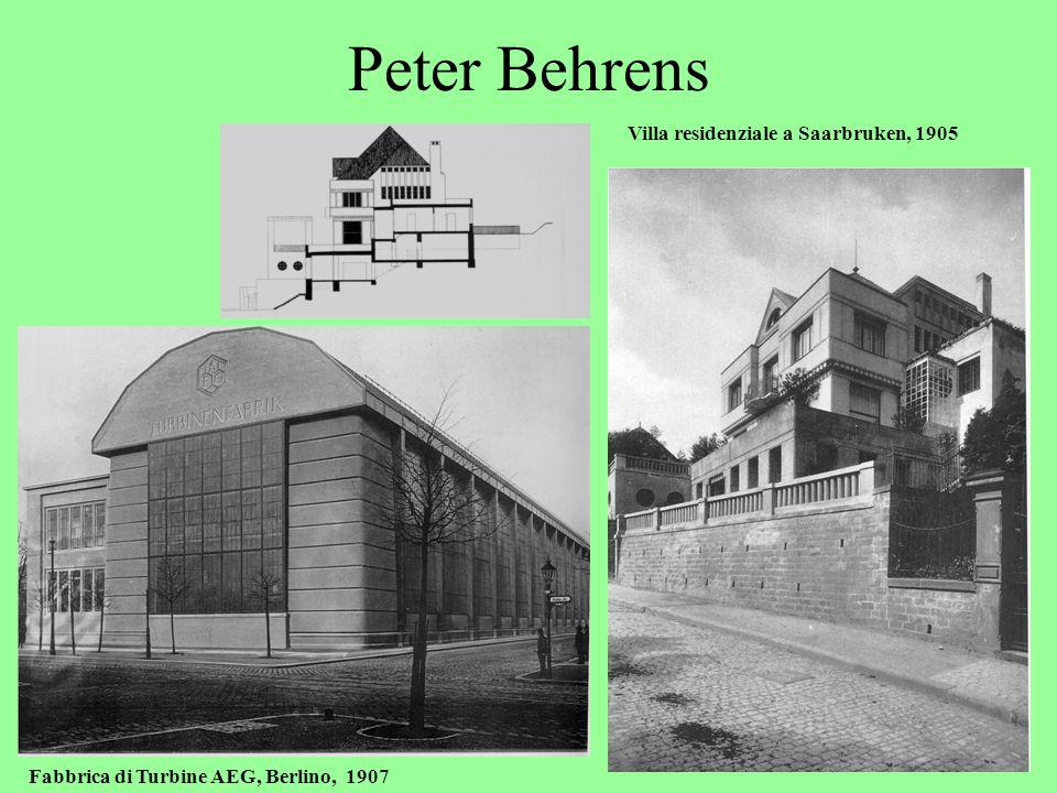 Peter Behrens Villa residenziale a Saarbruken, 1905
