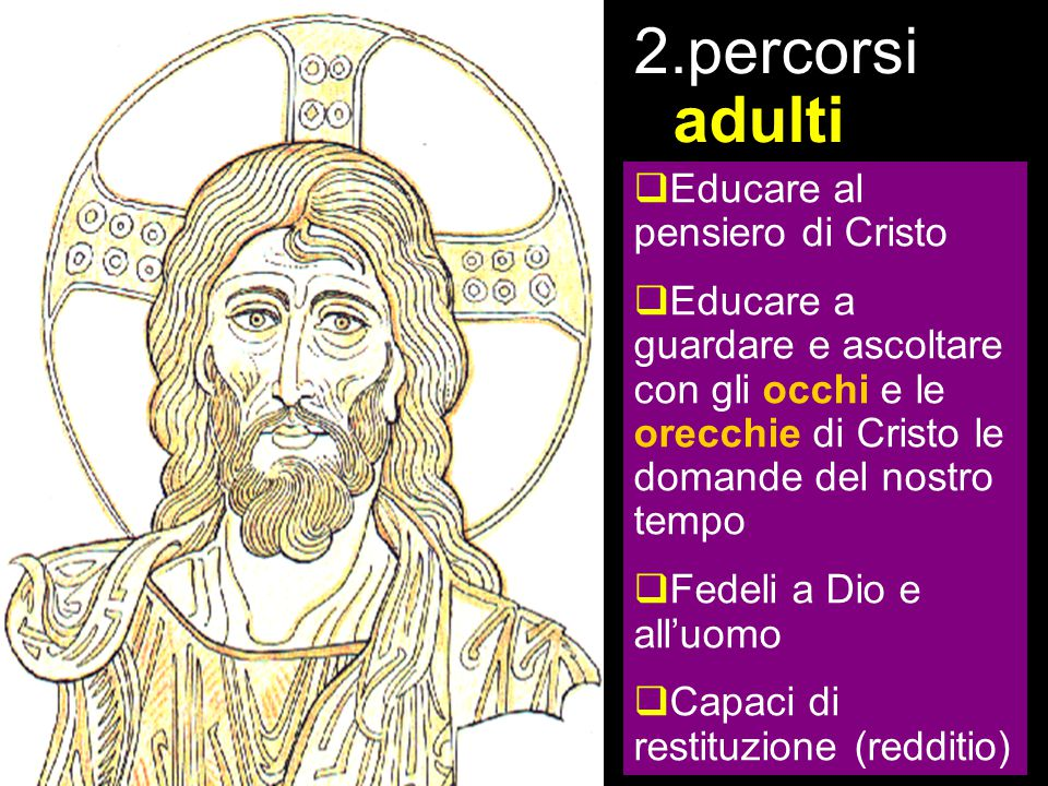 la proposta percorsi adulti Educare al pensiero di Cristo