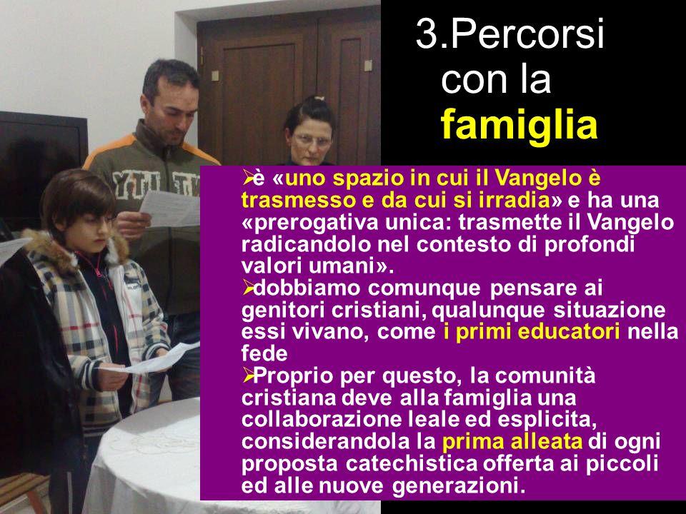 la proposta Percorsi con la famiglia