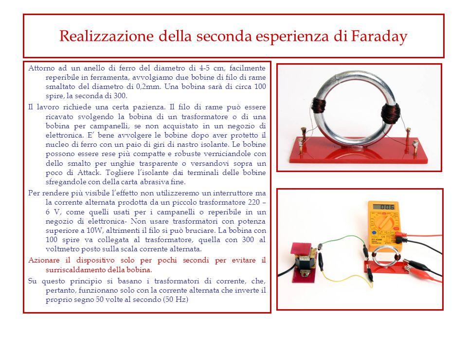Realizzazione della seconda esperienza di Faraday