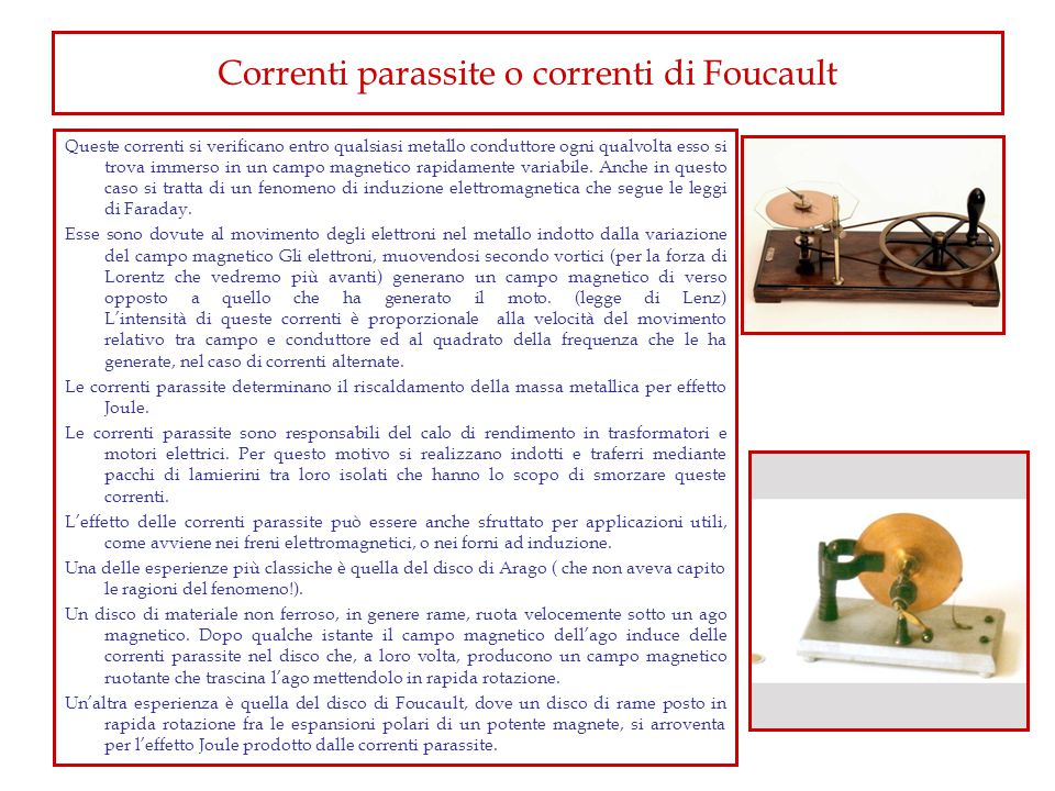 Correnti parassite o correnti di Foucault