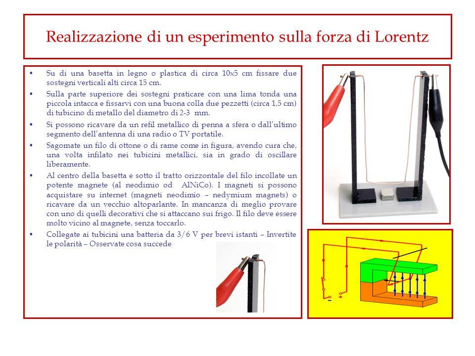 Realizzazione di un esperimento sulla forza di Lorentz