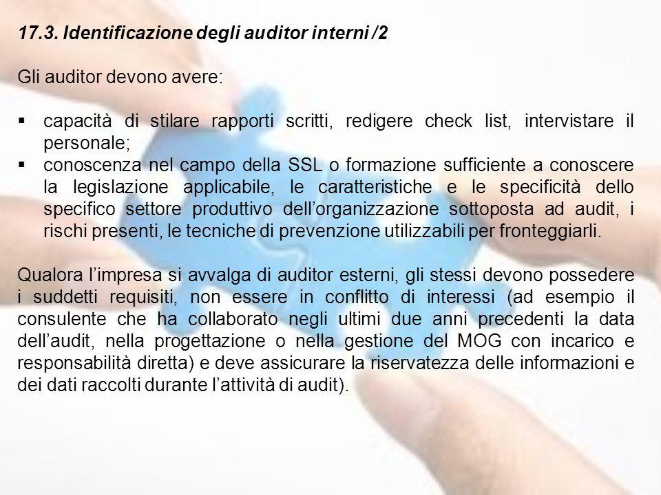 17.3. Identificazione degli auditor interni /2